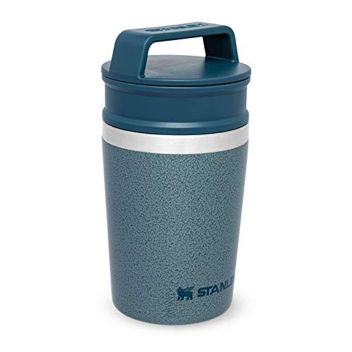 Stanley Adventure Shortstack Travel Mug 0.23L / 8OZ Hammertone Ice – Anti-Fugas - Sin BPA - Compatible con Cafetera de un Solo Servicio - Apta Para Lavavajillas