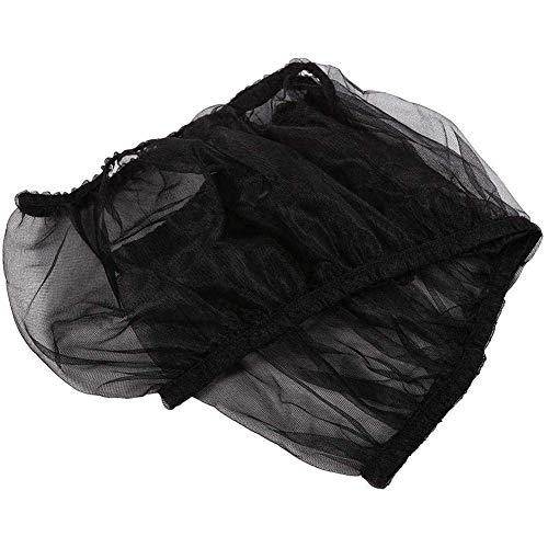 Cubierta para Jaula para pájaros Recogedor de Semillas Jaula para pájaros Malla de Nailon Cubierta de Red Falda Protector 2 Piezas, Negro, S