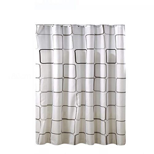 DWW Conjunto de Cortina de Ducha Perforación Libre Impermeable Tela de la Cortina del baño de Moho Cortina de baño Barra de Ducha Barra de Ducha partición Espesamiento (Tamaño : 180cm*80cm)