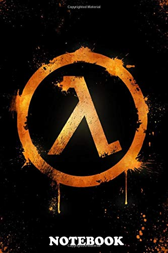 Notebook: 2d Half Life Logo , Journal for Writing, College Ruled Size 6