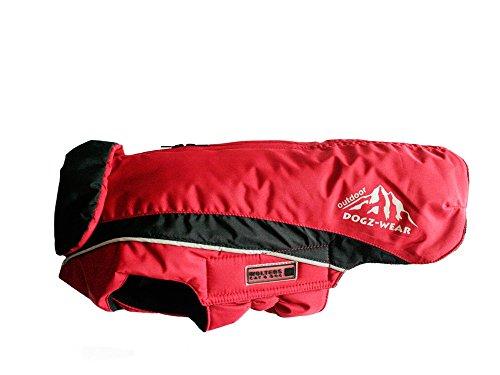 Wolters | Skijacke Dogz Wear wasserdichtem RV rot/schwarz | Rückenlänge 60 cm