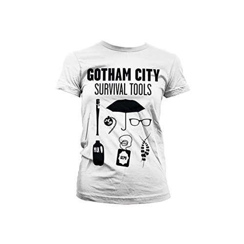 Officially Licensed Merchandise Gotham Survival Tools Girly T-Shirt (White), Large