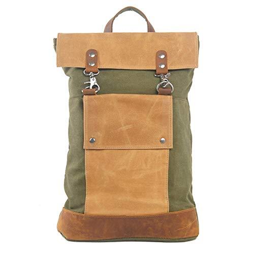 CUHAWUDBA Vintage Reise Rucks?Cke L?Ssige Reise Rinds Leder Rucksack für Dicke Segeltuch Tasche Schul Rucksack Taschen