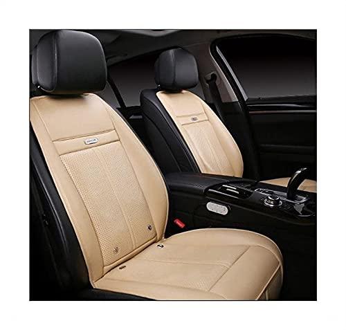 Funda de asiento 3 en 1, con controlador de temperatura inteligente, mantener caliente, masaje de vibración de refrigeración para conducir, adaptador de voltaje universal de 12 V (color: beige)