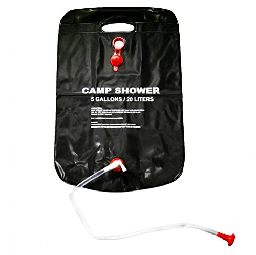 Mudent Solar Camping Shower Bag - 5 gallons/20L Solar Heating Premium Portable...