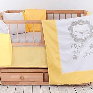 8 Piece 100% Cotton Crib Bedding Sets for Boys | Premium Baby Bedding Crib Set | Plush Design Nursery Crib Set | Satin Turkish Cotton | Embroidery Collection | Includes Mattress Protector