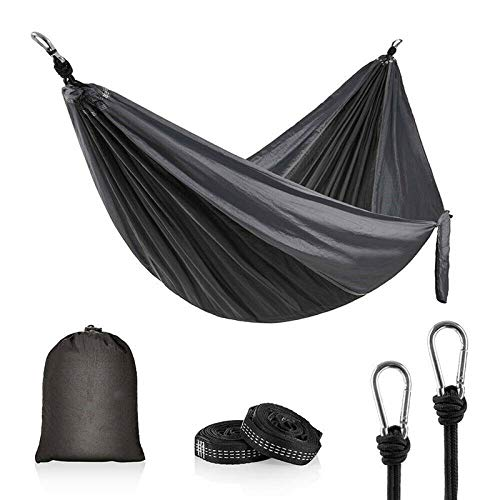 FENGSZ Portable Camping Parachute Hammock Camping Swing Chair Hanging Bed With Tree Strap,270 X 140Cm,Load Capacity Up To 600 Lbs
