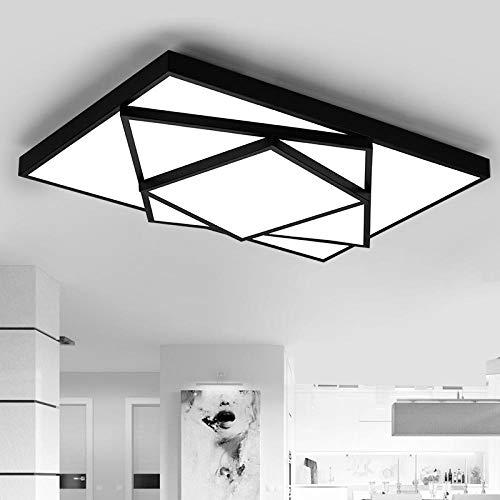 Creatieve led-plafondlampen, moderne plafondlamp, woonkamer, licht, slaapkamer, werkkamer, verlichting, lampparas, de Techo-lamp plafond@zwart_40x40 cm 18W_53X53 cm 32W_koel wit geen Rc