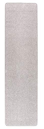 Misento Shaggy Hochflor Teppich für Wohnzimmer Langflor, schadstoff geprüft 100% Polypropylen, Silber 67 x 300 cm