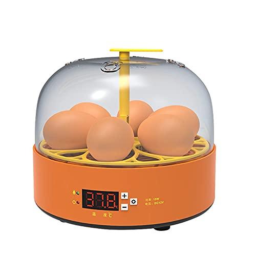 TANGIST Technics Incubato Incubadora de Huevos 6 Huevos Huevo Giratorio de Temperatura Ajustable de Temperatura Dispositivo de Incubación Gallina Pato Codorniz (Size : Turn The Eggs manually)