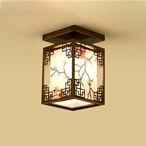 KQHSM New Chinese Ceiling Lamp Porch Led Corridor Foyer Ceiling Lamp Hotel Balcony Bedroom Lamps (Size : A)