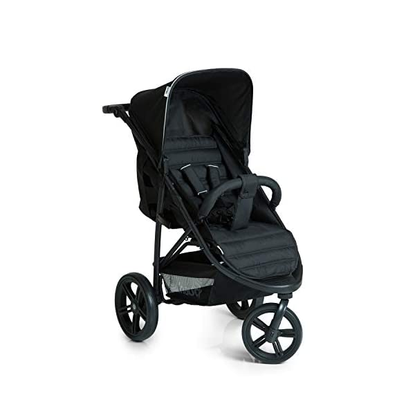 Hauck Rapid 3 Wheel Pushchair up to 25 kg with Lying Position from Birth, Small Foldable with One Hand, Height Adjustable Push Handle, Large Basket - Black Hauck LONG USE: The pushchair is suitable from birth (in lying position or in combination with the separate 2-in-1 Carrycot) and loadable up to 25 kg (seat unit 22 kg + basket 3 kg) EASY TO FOLD: This stroller folds away compactly and can be then carried with one hand only by the release loop COMFORTABLE: For the kid thanks to backrest and footrest adjustable into flat position, as well as for parents thanks to height-adjustable handle and large shopping basket 1