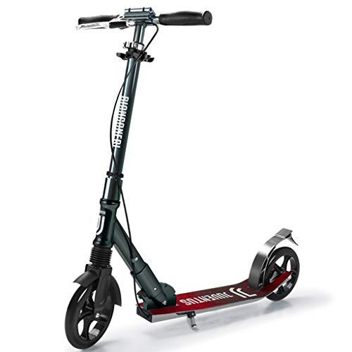 GTYMFH Scooter de pie Vespa Plegable de cercanías Freestyle, Altura Ajustable del Freno de Mano, Freno de pie Doble Freno Suave, Plegable portátil Scooters Ciudad de cercanías Scooter de Ciudad