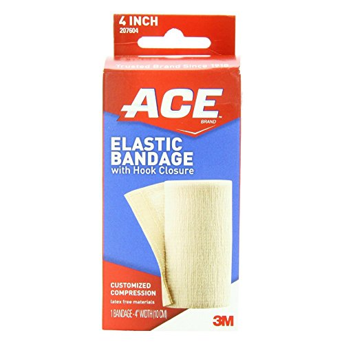 ACE Elastic Bandage with Hook Closure, 4 Inches 1 ea ( Pack of 3)