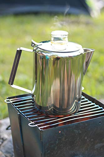 the TOPS 55705 Coffee Percolator on a grill