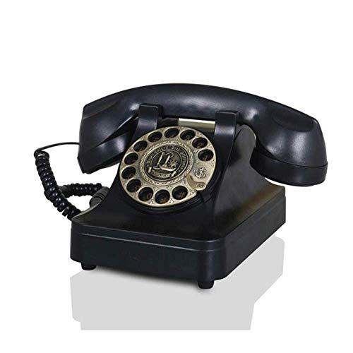 LXYZ Designer Retro Phon Rotary Retro Phone - Teléfono Fijo de Estilo de la década de 1970 con Cable Rizado y teléfono con Tono de Timbre Tradicional para el hogar, la Cocina, la Oficina del Hotel