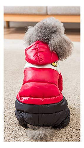 IMSPLULE Winter Haustier Hund Mantel Verdickung Hund Daunenjacke Kleidung Kostüm 4 Beine , rosa , orange , blau Pink-XXL