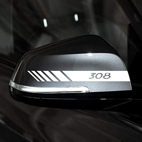 2 Piezas Coche Pegatinas Espejo Retrovisor Juego Pegatinas Estilo Pegatina, para Peugeot 308 Auto Styling