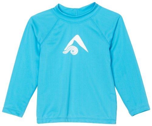 Kanu Surf Big Girls' Keri UPF 50+ Long Sleeve Rashguard, Aqua, Small (8)