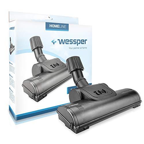 Tête d'aspirateur universelle avec brosses rotatives pour aspirateurs AEG Bosch Siemens Miele Diamètre tuyau 30-37 mm