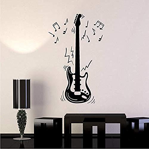 Jhping Adhesivo De Pared Notas De Guitarra Eléctrica Instrumento Musical Música Vinilo...