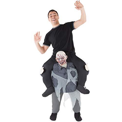 Morph MCPBZO Mach es selbst Füllung Halloween Karneval Huckepack Kostüm, Zombie, Einheitsgröße