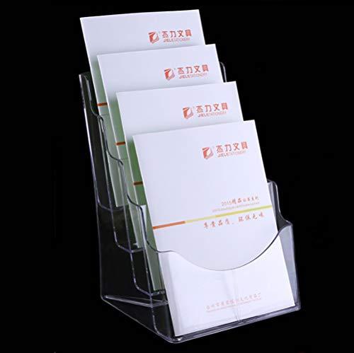 expositor revistas Exhibición de folleto Soporte para Documentos A5 - Porta Folletos de Acrílico Transparente , Escritorio y Montado en pared Expositor Soportes de Exhibición para Folletos y Revistas