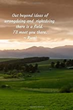 Out beyond ideas: Out beyond ideas of wrongdoing and rightdoing there is a field. I'll meet you there. Rumi Journal