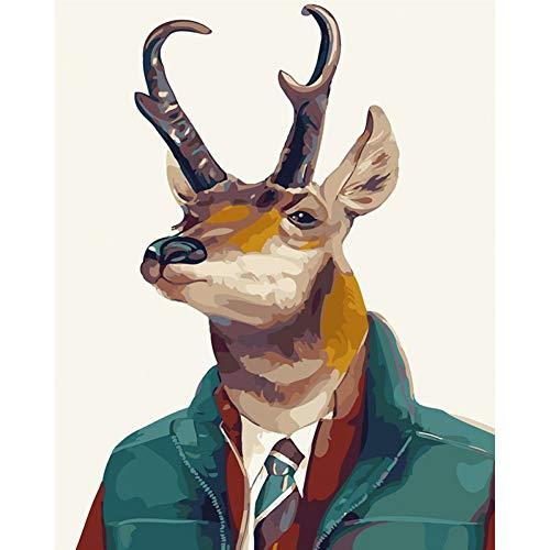 YOHAWOD 1000 Pieces Legpuzzels Puzzel 75*50cm Het dragen van een pak Mr Deer Animal Wedding Decoration Art foto Gift