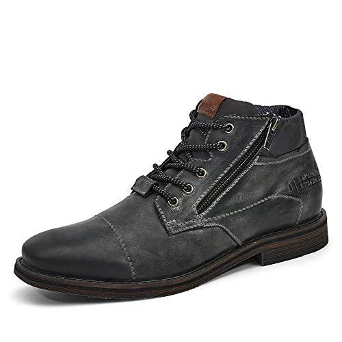 bugatti Herren 321A08311900-1000 Mode-Stiefel, schwarz, 43 EU