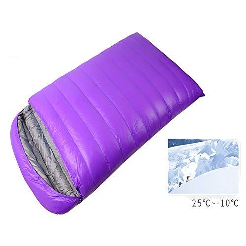 Envelop slaapzak LIUSIYU 95% eend naar beneden slaapzak, 3-4 seizoen, -20 graden C dubbel voor rugzak en ideaal voor kamperen, wandelen