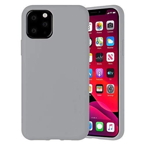 Yoedge Color Sólido Funda para Xiaomi Mi A2 Lite/Xiaomi Redmi 6 Pro 5.84″ Sencillez Carcasa de Silicona Case Protectora de TPU Suave Protección Cover para Xiaomi A2 Lite Teléfono Carcasas Fundas,Gris