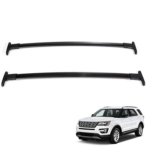 Tata.Meila 2016 2017 2018 2019 Roof Rack Cross Bars for Ford Explorer Crossbars Roof Rails Rooftop Luggage Bars Black