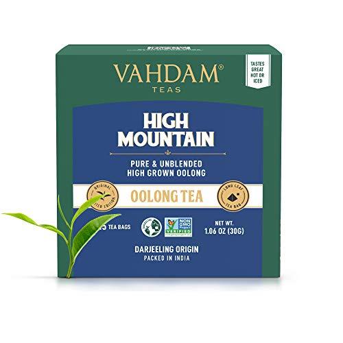 Himalayan Oolong Tea (30 Bolsitas de té) - 100% de té de desintoxicación natural, té de Oolong Hojas de té de pirámide de hojas sueltas, Te Oolong Adelgazante , cerveza caliente, té helado o Kombucha (Comestibles)
