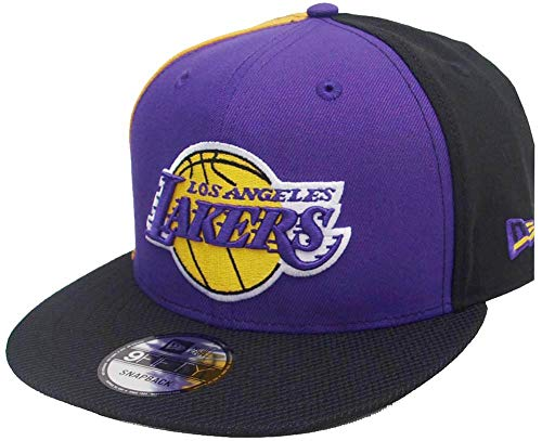 New Era Tricolor Los Angeles Lakers Yellow Black Purple NBA Snapback Cap 9fifty 950 OSFA Exclusive Limited Edition