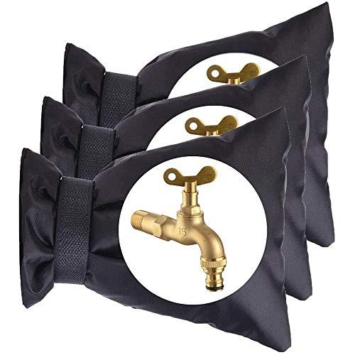 Wivarra 3 Piezas 15X21 Cm Cubierta Protectora de Grifo de Invierno Al Aire Libre Cubierta Protectora de Grifo de Aislamiento Anticongelante y Antihielo