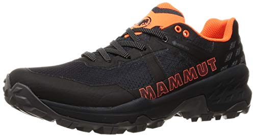 Mammut Herren Sertig II Low GTX Traillaufschuh, Black-Vibrant orange, 42 2/3 EU