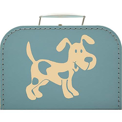 Valigetta in cartone per cani, dimensioni 20 x 14,5 x 8 cm, colore turchese