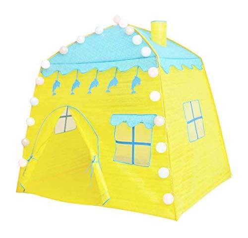 zvcv Tenda Pieghevole per Bambini, Tende Tipi Indiani, Angolo Lettura da Interno Tenda da Picnic all'aperto Tenda da Gioco Portatile Casette da Gioco per Bambini
