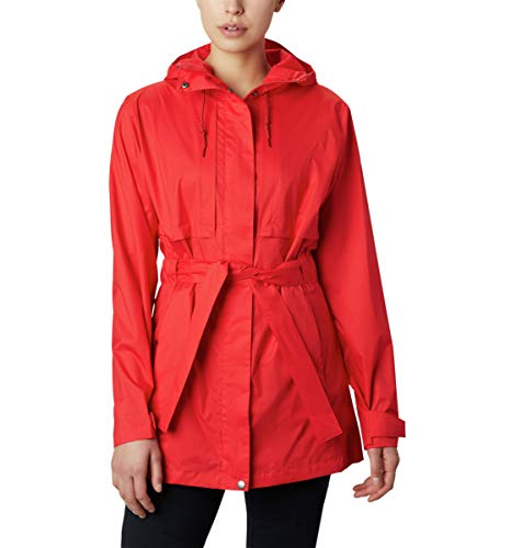 Columbia Women's Pardon My Trench Rain Jacket, Nocturnal, X-Large