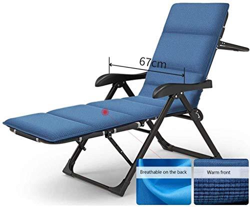 DAGCOT Tumbona sillas reclinables sillas reclinables, Patio Hamaca Ocio del Verano Fold la Almuerzo del hogar de Descanso de la Oficina Siesta Cama Lazy Respaldo Silla con Silla Cojín balancín