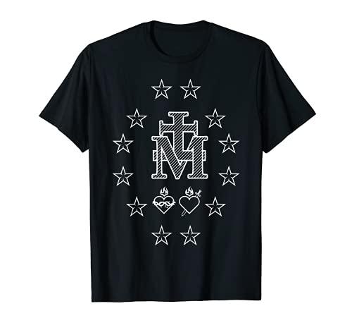 Medalla Milagrosa Nuestra María Sagrado Corazón Católico Camiseta