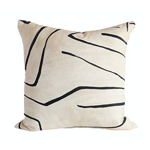 Toll2452 Graffito LinenOnyx diseñador fundas de almohada Kelly Wearstler Boho almohada sofá decoración funda de cojín
