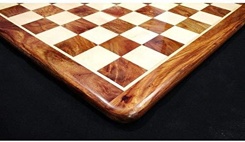 RoyalChessMall - Tablero de ajedrez Grande de Madera de Palisandro y Arce de 21 Pulgadas - Cuadrado de 55 mm