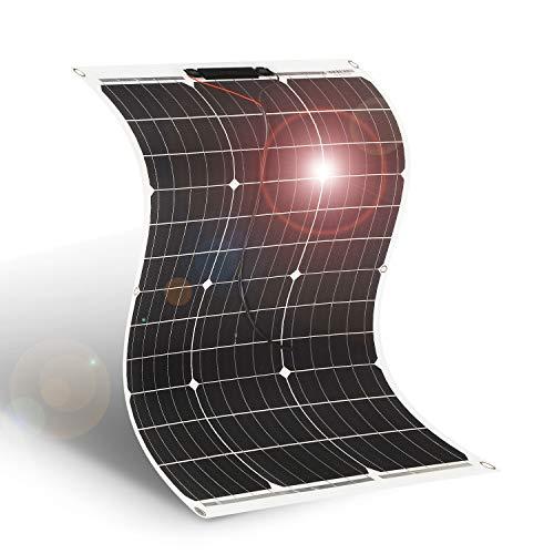 DOKIO Solarpanel flexibel Mono 50W 12V Solarmodul ideal für Wohnmobil, Camping, Gartenhaus