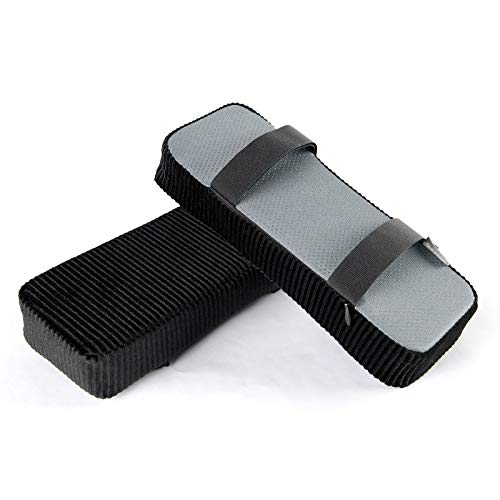 baibu Ergonomic Memory Foam Office Chair Armrest Pads, Comfy Gaming Chair Arm Rest Covers for Elbows and Forearms Pressure Relief(Set of 2) (Velcro-Black)