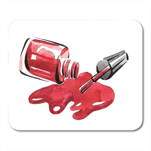 Mauspad schöne aquarell gegossen nagellack rote farbe schönheit schwarz mousepad für notebooks, Desktop-computer mausmatten, Büromaterial