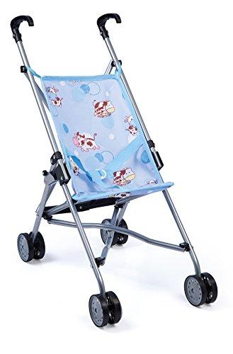 Bayer Design 30134AA Puppen Buggy, faltbar, mit Doppelrädern, blau
