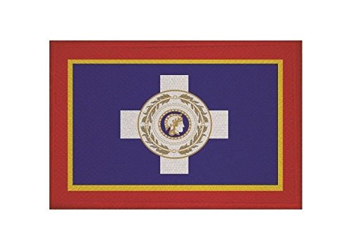 U24 Aufnäher Athen Fahne Flagge Aufbügler Patch 9 x 6 cm
