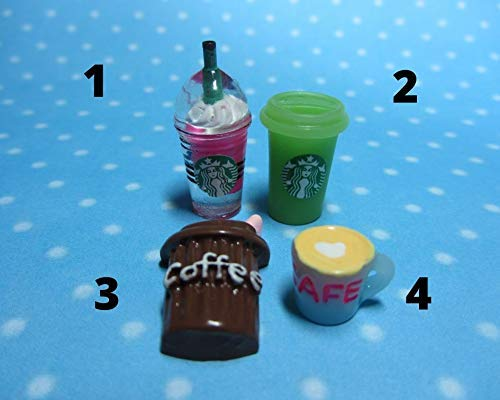 Silicone 3D-molds in the form of glasses and cups of coffee of different shapes and sizes (1:12). Forms for polymer clay and plastic.
